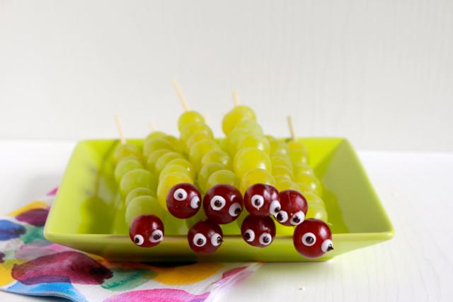 Kindertraktaties - Rupsen van druiven / www.eenlepeltjelekkers.be