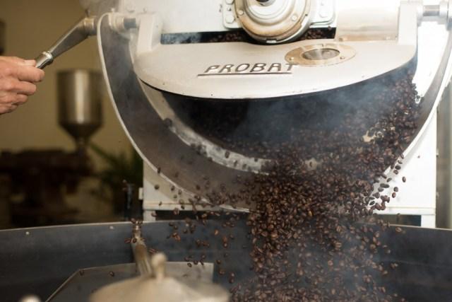 Koffiebonen branden / www.eenlepeltjelekkers.be