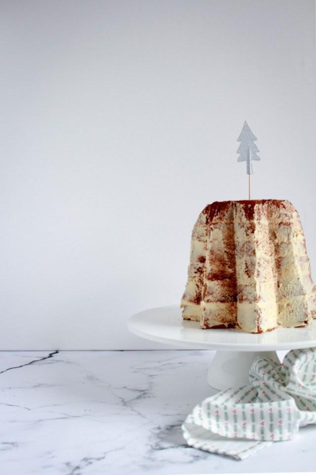 Capuccino kerstcake / www.eenlepeltjelekkers.be