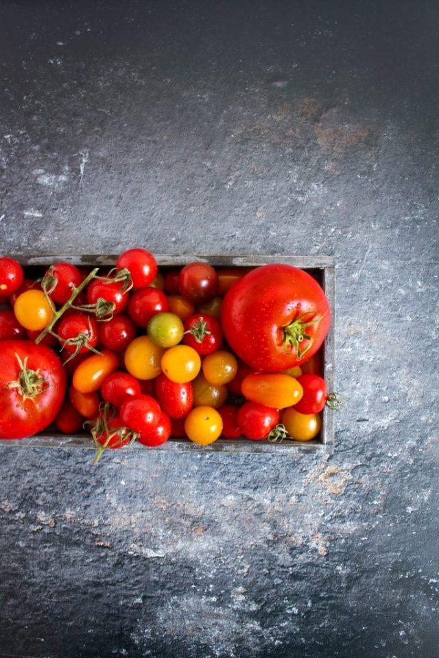 Veelkleurige tomaten / www.eenlepeltjelekkers.be