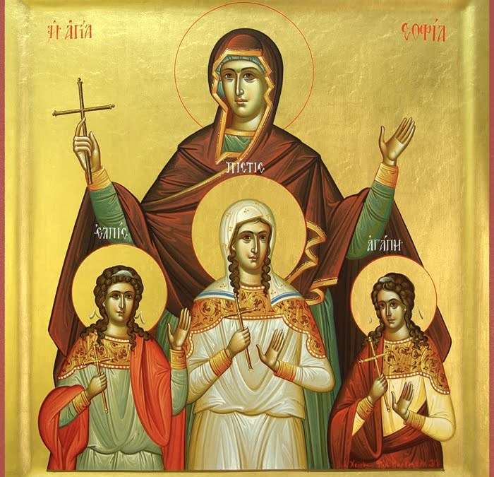 September 17, 2017 Sunday after the Exaltation of the Cross; Octoechos Tone 6; Holy Martyr Sophia, and her three daughters Faith, Hope and Love
