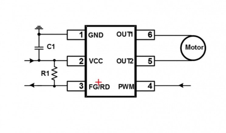 18V, 2A, Single-Phase, BLDC Motor Driver with Integrated