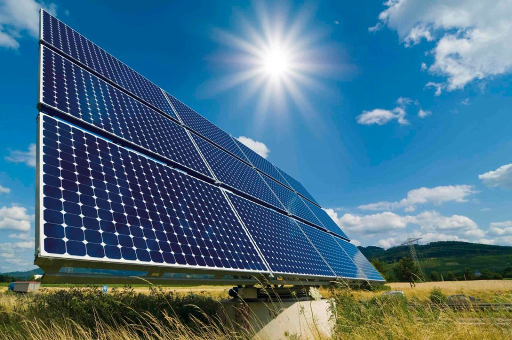 Photovoltaic panel to convert solar energy to electricity (Solar Power)