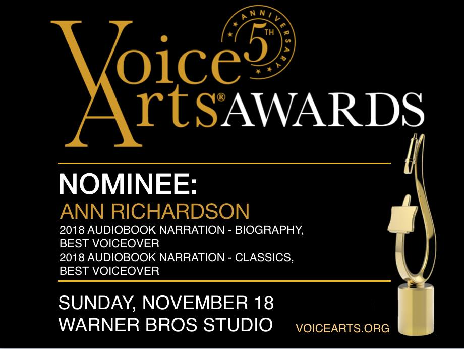 Ann Richardson Nominated for 2018 SAVOS Award for Eva's Story