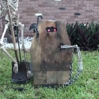 Animated Coffin Creep Halloween Prop