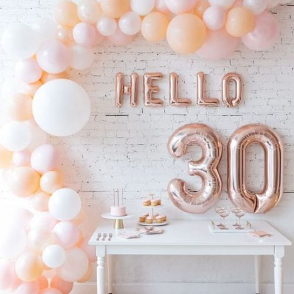 balloon decorations for 30th birthday