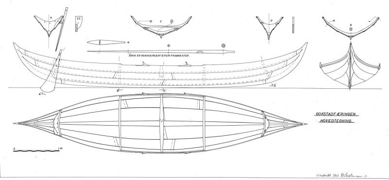 ship gokstad plans viking