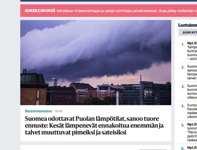 Soomet ootab Poola-sarnane ilm: soojad suved, mahedad talved