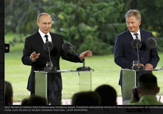 Vene ja Soome presidendid kohtuvad täna Savonlinnas. Mida nad seal teevad?