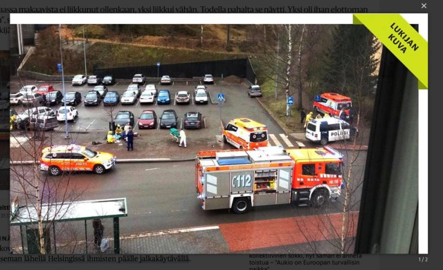 Politsei: Helsingis on tegemist arvatavalt õnnetusega