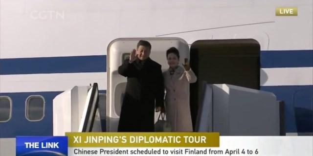 Hiina president saabus riigivisiidile Soome