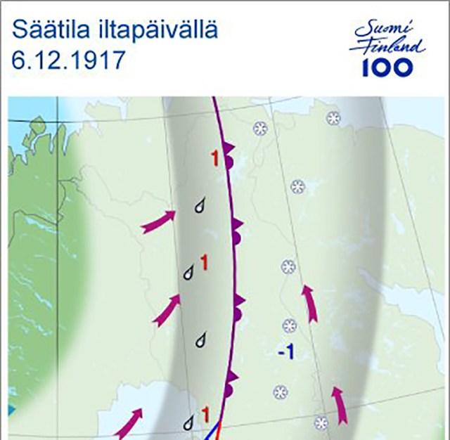 Milline oli ilm 100 aastat tagasi, kui Soome iseseisvus?