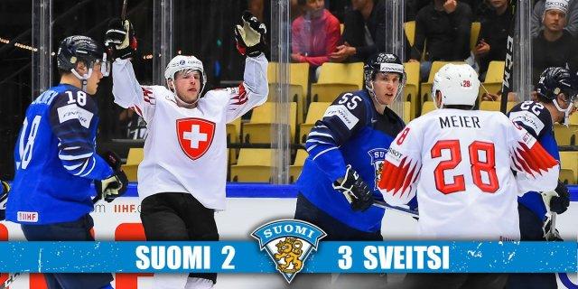 Leijonat kaotas hoki MM-il Šveitsile ja kukkus medalikonkurentsist välja