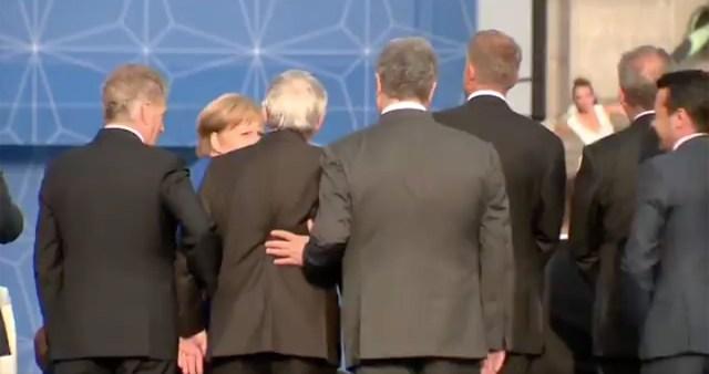 Kas Euroopa Komisjoni president oli NATO kohtumisel purjakil? Soome ja Ukraina presidendid aitasid teda püsti hoida