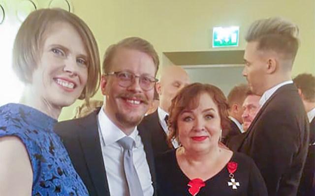 Eesti kirjanikud käisid Soome presidendi vastuvõtul