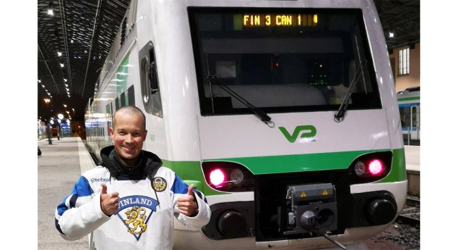 Isegi rongijuhid elasid Soome võidule kaasa – rongide tablood näitasid FIN3-CAN1