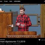 Soomes käib debatt Euroopa uue abipaketi üle – Põlissoomlaste erakonna rahvasaadik on rääkinud parlamendis juba 4 tundi