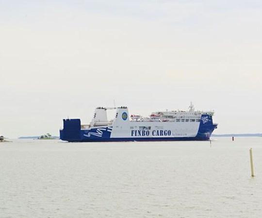 Eckerö uus laev Finbo Cargo tegi täna esimese reisi Soome ja Eesti vahel
