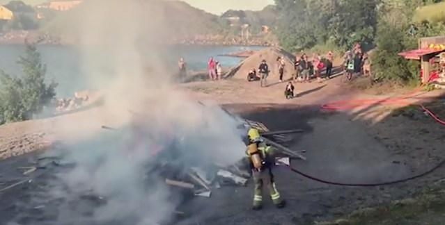 Vaata, kuidas päästjad kustutasid jaanitule Soomes