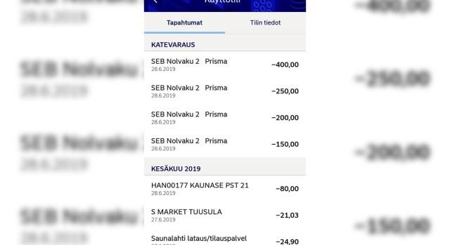 Kuidas see on võimalik? Soomes elava eestlase pangakontolt võeti Eestis välja ligi 1000 eurot