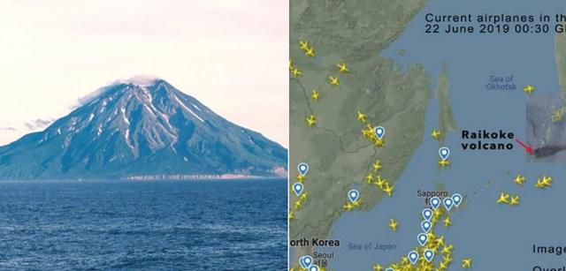 Põrgu vulkaan purskas Kuriilidel, suur tahmapilv liigub ida poole