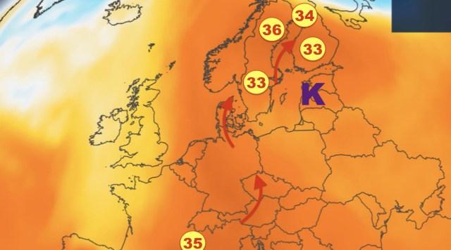 Soomes anti kuumahoiatus! Üks pilt näitab, mis kuumus on saabumas Põhjamaadesse