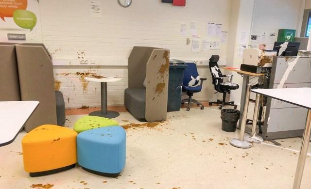 Soome tööbüroosse tungis klient, kes viskas sinna värvi ja väljaheiteid