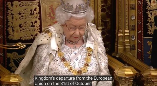 """Briti kuninganna avaldas oma toetust Brexitile 31. oktoobril, et """"üles ehitada vaba kaubandusega maa"""""""