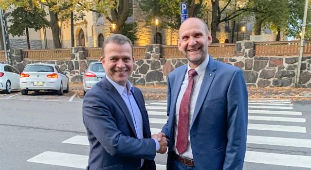 Eesti Isamaa erakonna juht kohtus Soome koonderakonna juhi ja Soome eestlastega