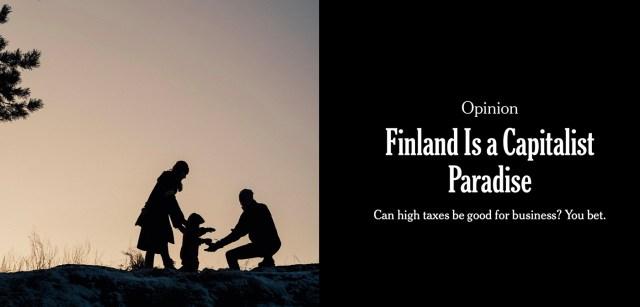 USA mõjukas ajaleht avaldas Soomet kiitva artikli: Kapitalistlik paradiis