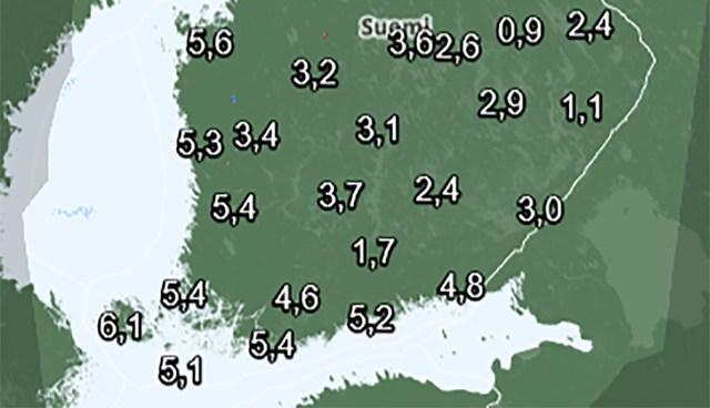 Soomes on pea igal pool plusskraadid, isegi Lapimaal jõuab temperatuur nulli