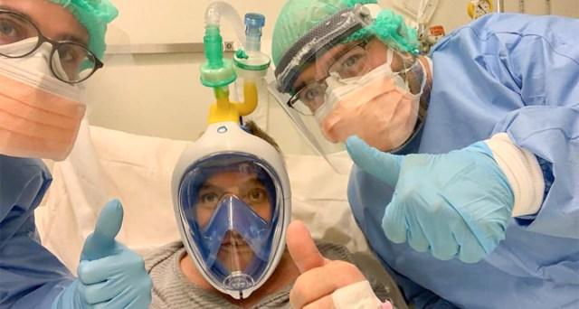 VIDEO: Itaalia ettevõte töötas välja lahenduse, kuidas kasutada sukeldumismaski haiglates koroonaviiruse patsientidel