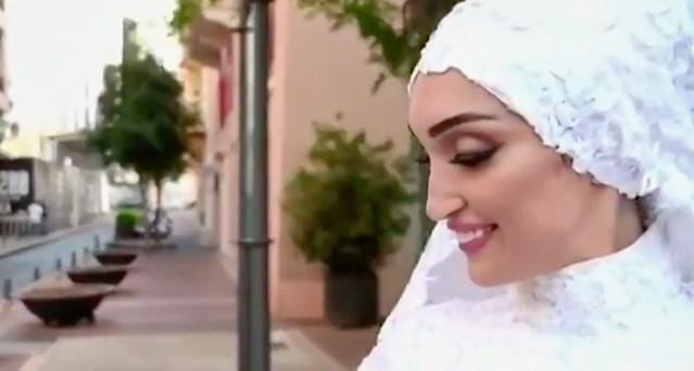 Kõhe video: Beiruti plahvatus katkestas pruutkleidis naise fotosessiooni