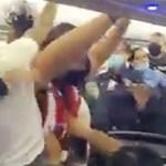 VIDEO: Näomaski pärast puhkes lennukis massikaklus