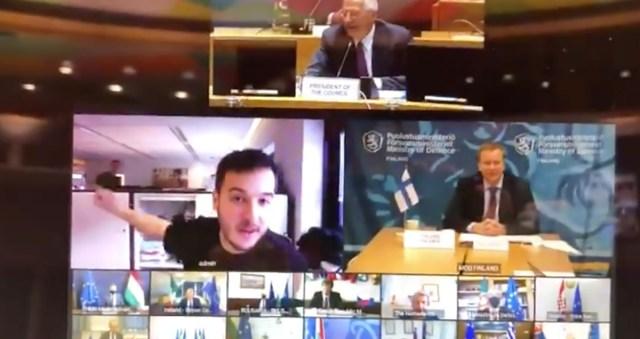 VIDEO: Hollandi ajakirjanik pääses sisse Euroopa kaitseministrite kinnisele videokonverentsile