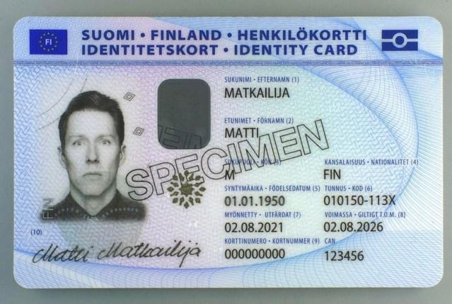 Soome ID-kaardi välimus muutub augusti algusest, taotlemiseks on vaja anda sõrmejäljed