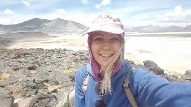 Reisimine Tšiilis. Tšiili reisikiri Red Rock viewpoint soolajärve ääres