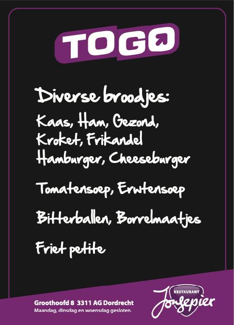 take-away menu