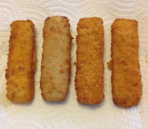 Vissticks na 8 minuten bakken