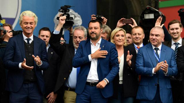 Le Pen Salvini Milan 2019