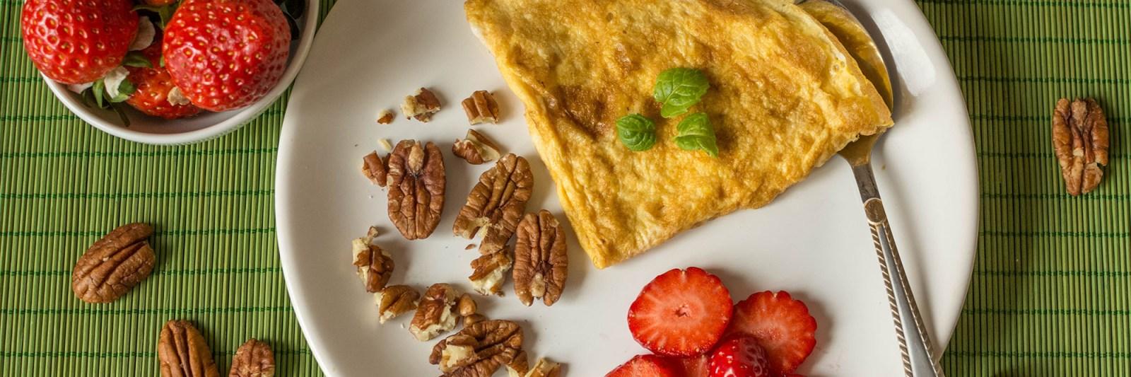 omelet aardbeien