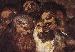 Goya  The Black Paintings  Men Reading