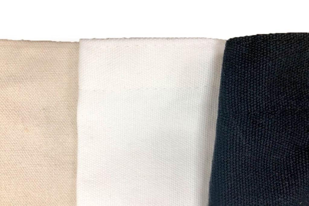 少量訂製帆布袋材質介紹-黑白布料-誼源國際