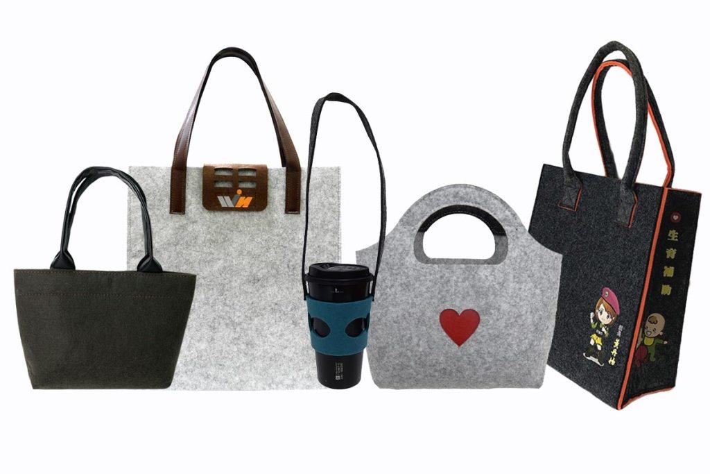訂製羊毛氈袋子及飲料提袋-誼源國際