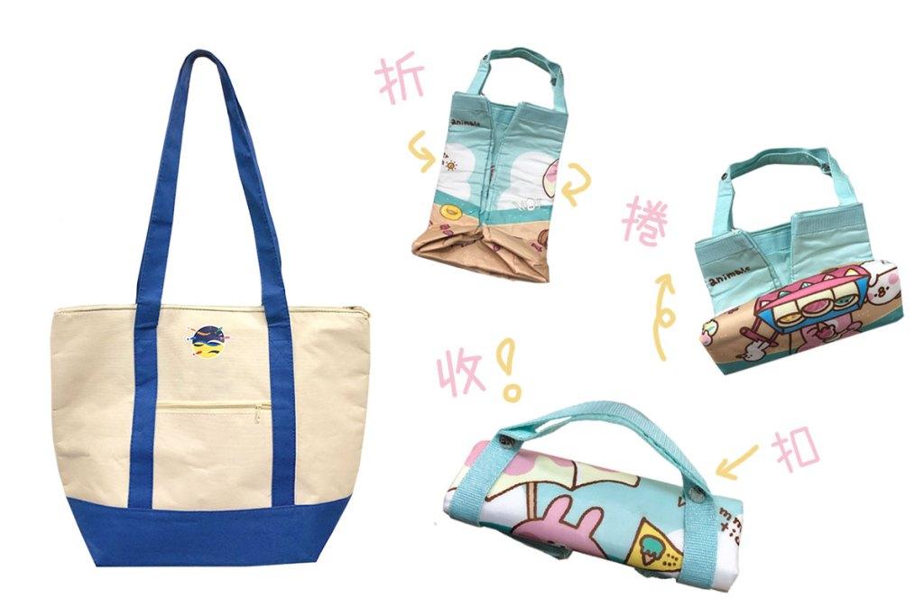 保冷袋效果-折疊大容量購物袋-誼源國際