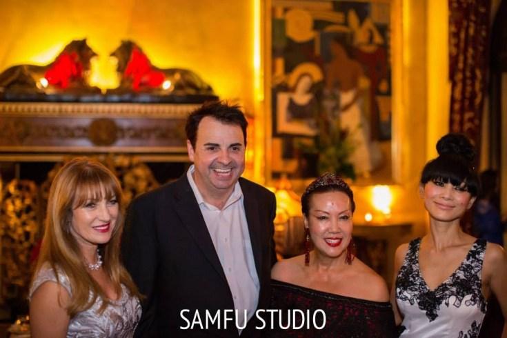 Star Studded...Jane Seymour, Sandro Monetti, Sue Wong, and Bai Ling. Photo courtesy of Sam Fu Photography