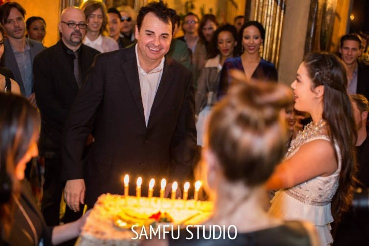 They say it's your birthday! Sandro Monetti gets ready to blow out the candles on his birthday cake. Photo courtesy of Sam Fu Photography
