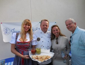 The gang from Edelweiss Thousand Oaks with Chef Kurt Elrich