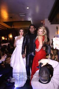 Paparazzi on the runway..Shekhar with models at the show