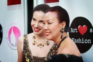 With Sue on the red carpet. Photo courtesy of Winston Burris/Burris Agency